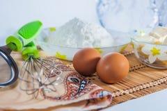 Ingredienti per cuocere Fotografia Stock Libera da Diritti