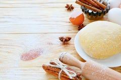 Ingredienti per cuocere e pasticceria Fotografia Stock