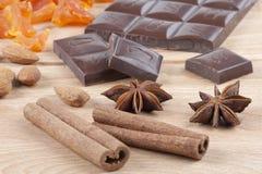 Ingredienti per i biscotti di natale Fotografie Stock