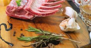 Ingredienti per il carrè di agnello minted Fotografia Stock