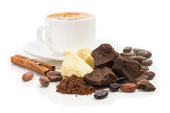 Ingredienti per il  di Ñ che ooking cioccolato casalingo immagini stock libere da diritti