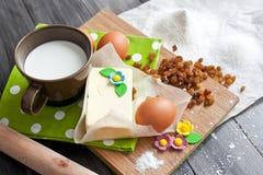 Ingredienti per il dolce di Pasqua fotografia stock
