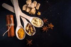 Ingredienti per il pan di zenzero Fotografie Stock Libere da Diritti