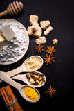 Ingredienti per il pan di zenzero Fotografia Stock Libera da Diritti