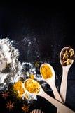 Ingredienti per il pan di zenzero Immagine Stock Libera da Diritti