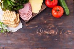 Ingredienti per il panino Fotografia Stock Libera da Diritti