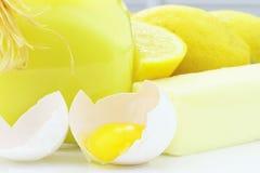 Ingredienti per la cagliata di limone Immagini Stock Libere da Diritti