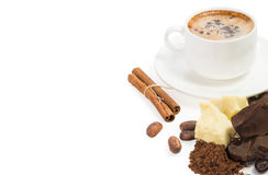Ingredienti per la cottura del cioccolato casalingo fotografia stock