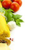 Ingredienti per la cottura italiana Immagini Stock