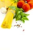 Ingredienti per la cottura italiana fotografie stock libere da diritti