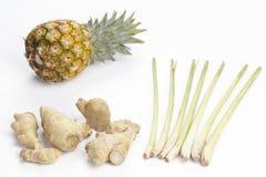 Ingredienti per la cucina asiatica Fotografia Stock Libera da Diritti