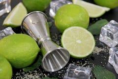 Ingredienti per la fabbricazione del cocktail di Mojito immagine stock libera da diritti