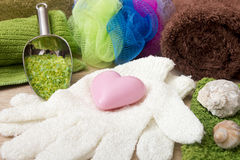 Ingredienti per la fabbricazione del sapone a casa Fotografia Stock Libera da Diritti