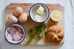 Ingredienti per la prima colazione Fotografie Stock