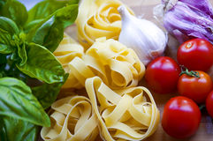 Ingredienti per pasta immagine stock