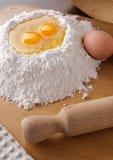 Ingredienti per pasta casalinga Fotografia Stock