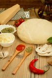 Ingredienti per una pizza del vegano Fotografia Stock Libera da Diritti