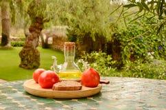 Ingredienti per una prima colazione spagnola Fotografie Stock Libere da Diritti