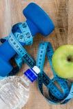 Ingredienti per uno stile di vita sano Immagini Stock Libere da Diritti