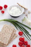 Ingredienti sani del panino Fotografia Stock