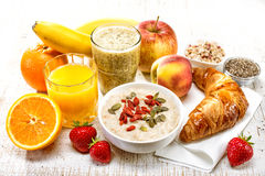 Ingredienti sani della prima colazione fotografia stock libera da diritti
