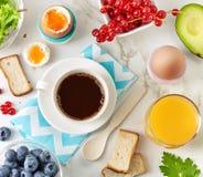 Ingredienti sani della prima colazione Immagine Stock