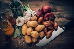 Ingredienti saporiti di vita di Stilll dell'alimento Fotografia Stock Libera da Diritti