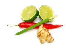 Ingredienti tailandesi del curry Fotografia Stock