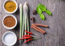 Ingredienti tailandesi dell'erba Fotografia Stock Libera da Diritti