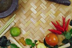 Ingredienti tailandesi popolari per alimento tailandese immagine stock