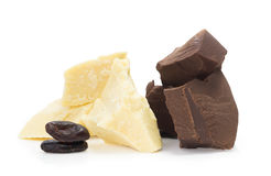 Ingredients for сooking homemade chocolate stock photography