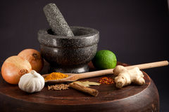 Ingredients. For an exotic meal Royalty Free Stock Photography