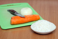 Ingredients. Some ingredients for meal preparation royalty free stock image