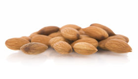 Ingredients: almonds. Almonds nuts, isolated on white stock image