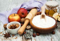Ingredients for apple pie Stock Images