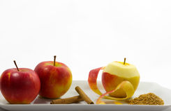 Ingredients for Apple strudel Stock Images