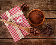 Ingredients for artisan chocolate Royalty Free Stock Images