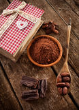 Ingredients for artisan chocolate Stock Images