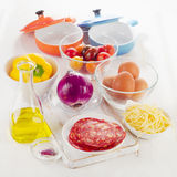 Ingredients for baked eggs Stock Photography