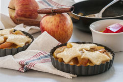 Ingredients for baking apple pie Stock Images