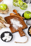 Ingredients for baking apple pastry Royalty Free Stock Image