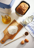 Ingredients for baking of bread Stock Photos