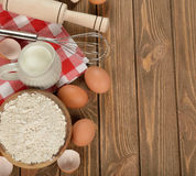 Ingredients for baking Royalty Free Stock Photo