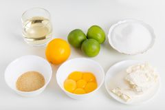 Ingredients for baking. Royalty Free Stock Images