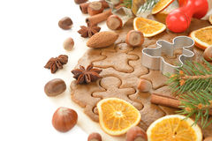Ingredients for baking Christmas cookies Royalty Free Stock Photography