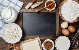 Ingredients for baking Royalty Free Stock Photos