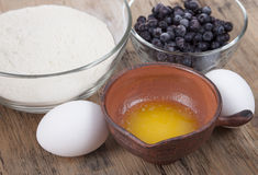 Ingredients for baking muffins Stock Image