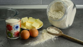 Ingredients for baking stock footage