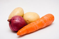 Ingredients for basic vegetable soup Royalty Free Stock Photo