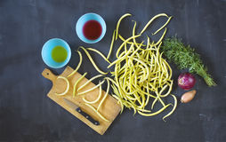 Ingredients for bean salad, flat lay Stock Photography